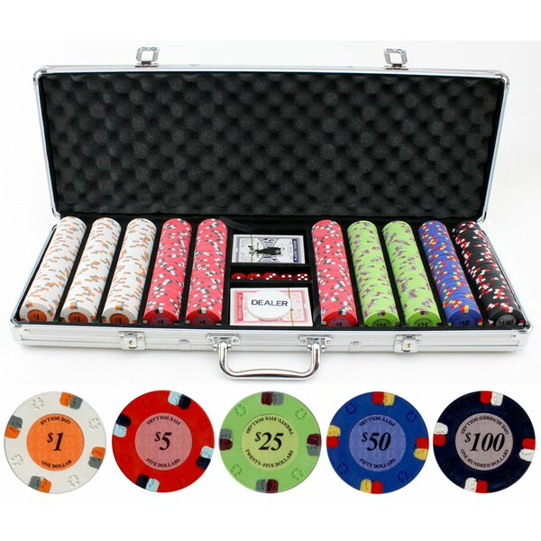 500 Piece Lucky Horseshoe Clay Poker Chip by JP Commerce