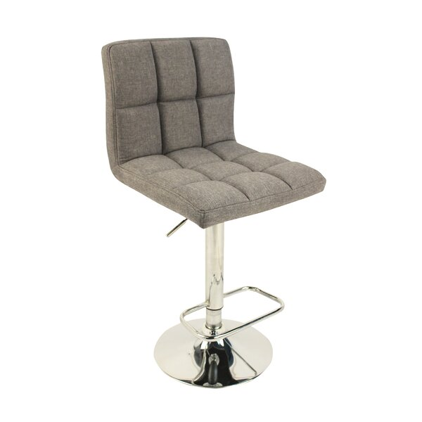 Hurtt Adjustable Height Swivel Bar Stool by Orren Ellis Orren Ellis