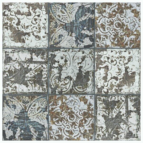 Aevit 8 x 8 Ceramic Field Tile in Dark Ornato by EliteTile