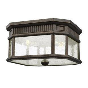 Best Deals Chilhowee 2-Light Outdoor Flush Mount By Darby Home Co
