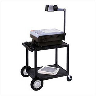 High Low Priced Table AV Cart with Big Wheels by Luxor