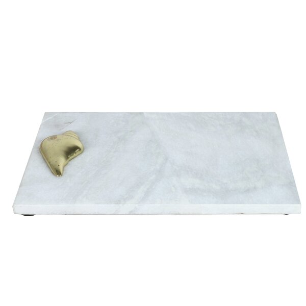 Foley Marble Accent Tray by Wrought Studio
