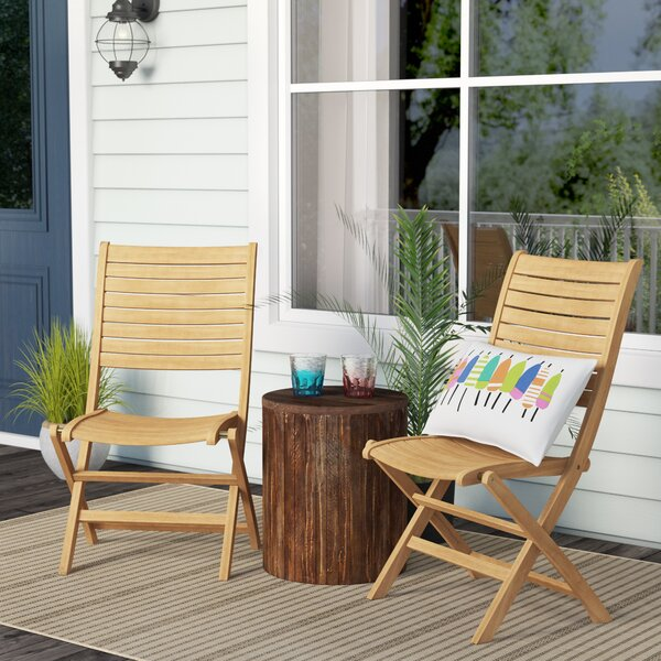 Brighton Folding Teak Patio Dining Chair (Set of 2) by Sol 72 Outdoor