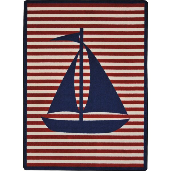 Navy/ Red Area Rug by The Conestoga Trading Co.
