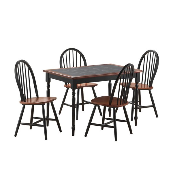 5 Piece Dining Set by Boraam Industries Inc