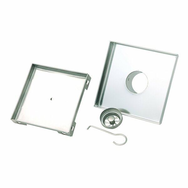Tile Insert Square 2 Grid Shower Drain by Boann