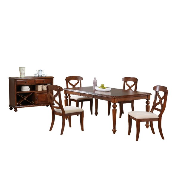 Lockwood 6 Piece Solid Wood Dining Set by Loon Peak
