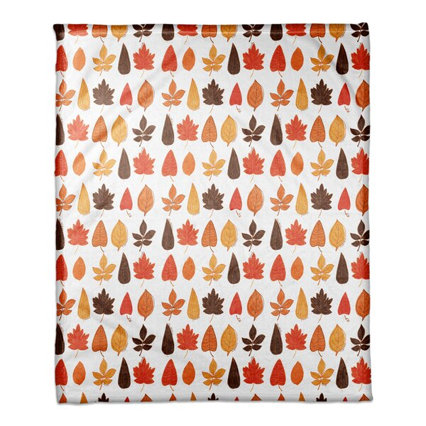 Azriel Funky Fall Leaves Blanket by The Holiday Aisle
