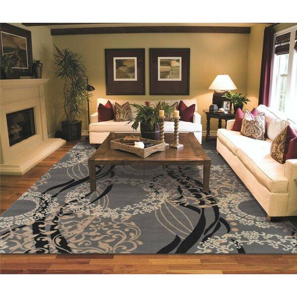 Kirkbride Wool Gray Indoor/Outdoor Area Rug by Winston Porter