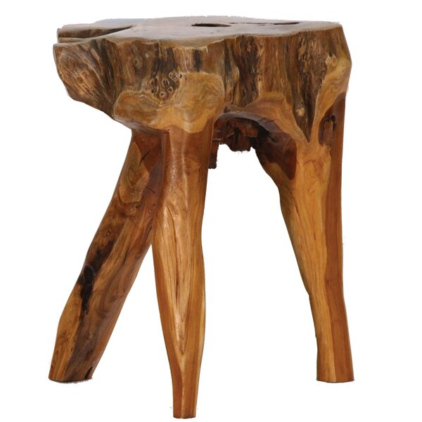 3 Legs Teak Root Stool by Ibolili