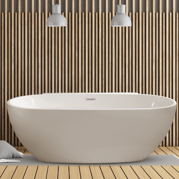 59 x 22.8 Freestanding Soaking Bathtub by Wildon Home ®