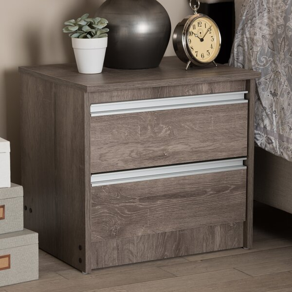 Choe 2 Drawer Nightstand by Union Rustic