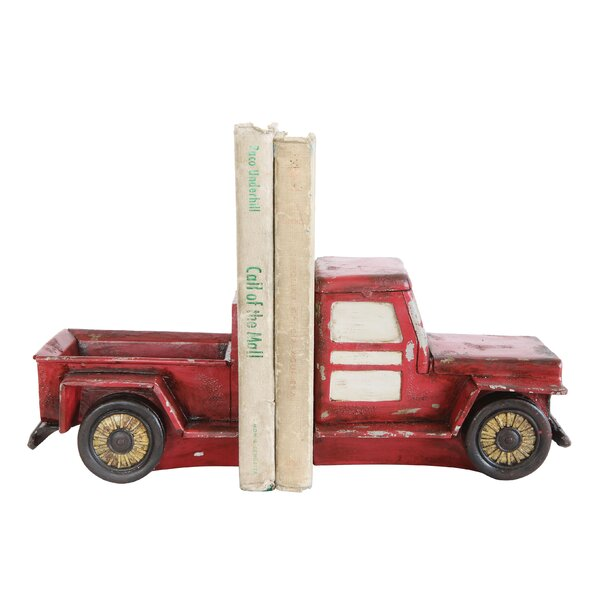 Resin Truck Bookends (Set of 2) by Laurel Foundry Modern Farmhouse