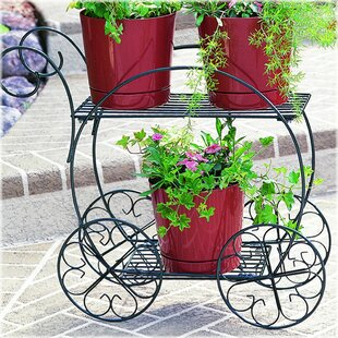 Outdoor Planter Stand Outdoor plant stands youll love wayfair cart plant stand workwithnaturefo