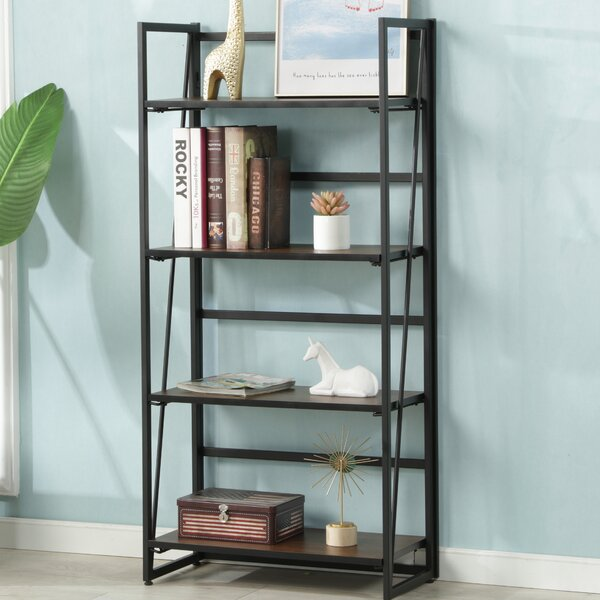 Warnock Foldable Etagere Bookcase by Wrought Studio