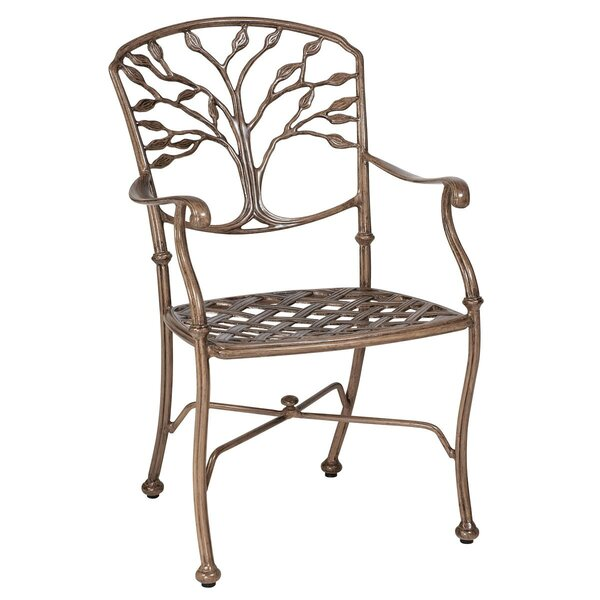 Heritage Patio Dining Chair with Cushions by Woodard