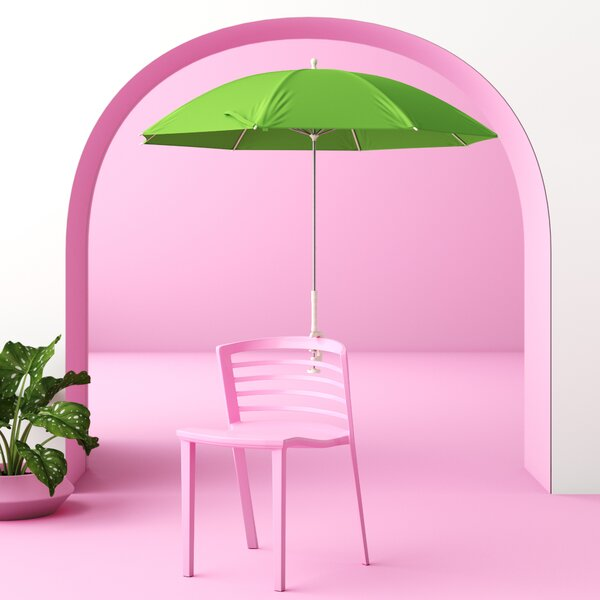 Dominic Clamp-On Assorted 4' Beach Umbrella by Hashtag Home