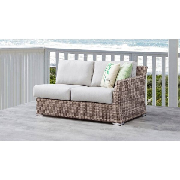 Norman Left Arm Loveseat with Cushions by Bayou Breeze