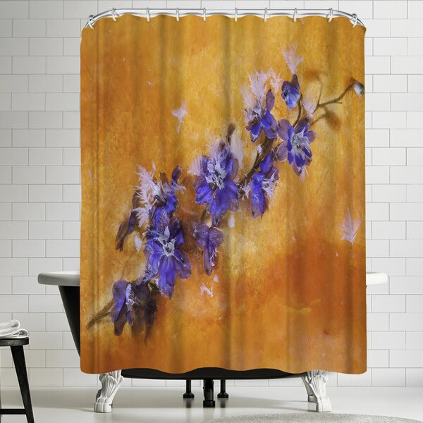 Zina Zinchik Ocean of Fire Shower Curtain by East Urban Home
