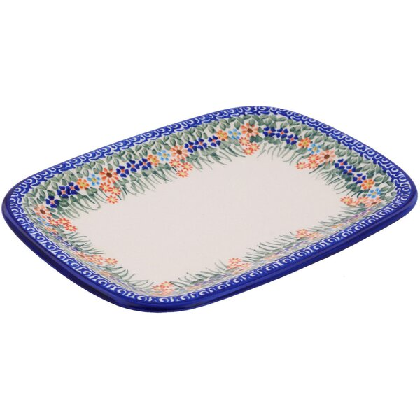 Polish Pottery 13 Rectangular Platter by Polmedia