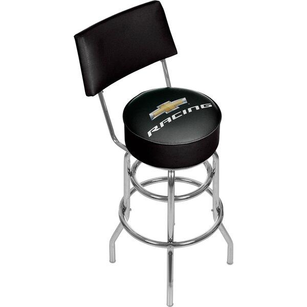 Chevy Racing 31 Swivel Bar Stool by Trademark Global