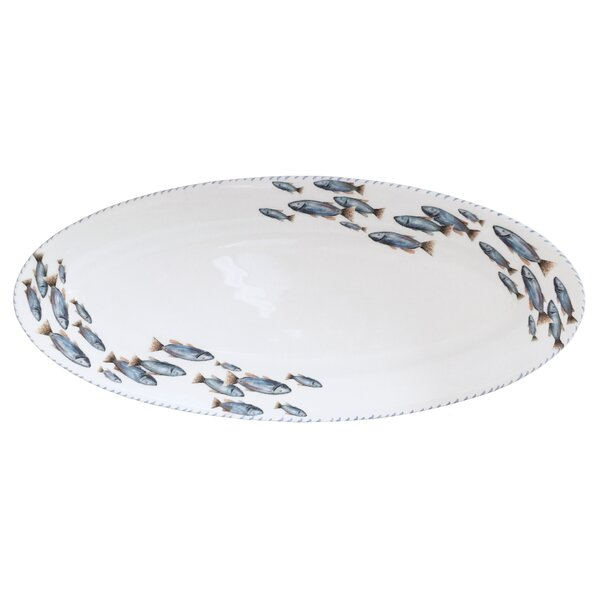 Lake Fish Long Oval Platter by Abbiamo Tutto