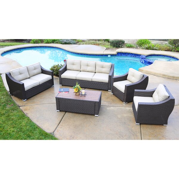 Suai 5 Piece Sofa Seating Group with Cushions Brayden Studio BSTU7616