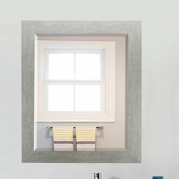 Lidya Brushed Silver Beveled Wall Mirror by Brayde