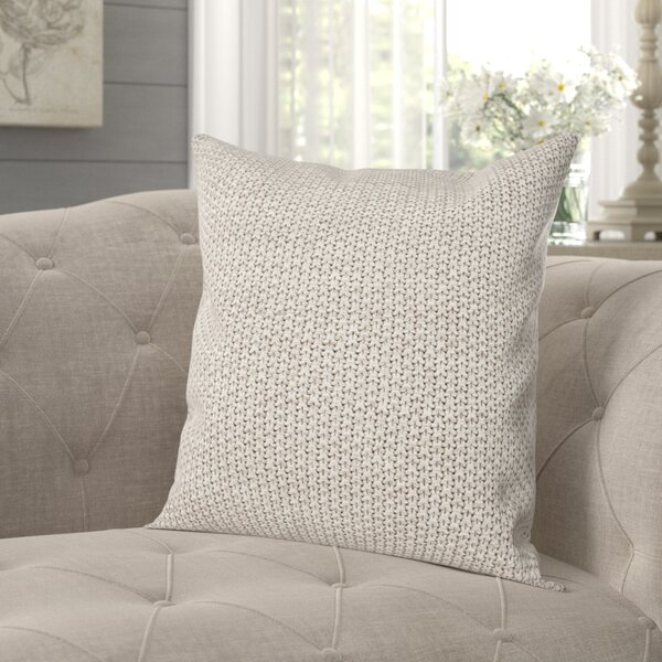 Hoff Knit Cotton Throw Pillow by Gracie Oaks