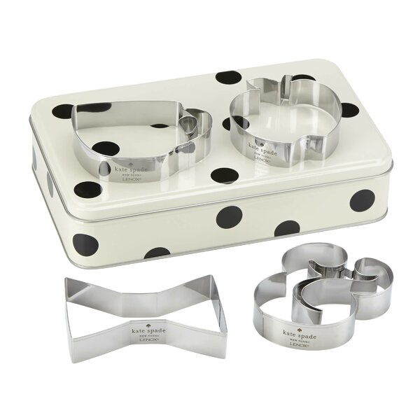 All In Good Taste Storage Tin With Cookie Cutters By Kate Spade New York.