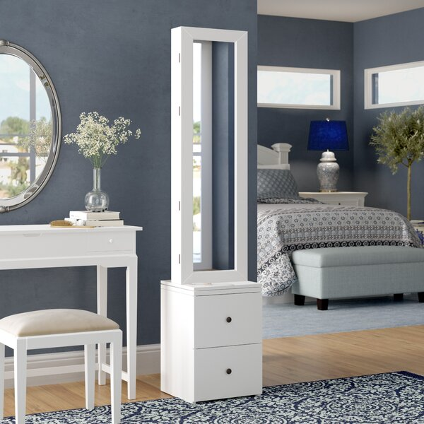 Simmerman Swivel Jewelry Armoire in White by Darby Home Co Darby Home Co