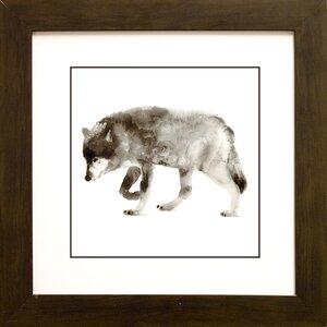 'Wolf' Framed Painting Print by Loon Peak