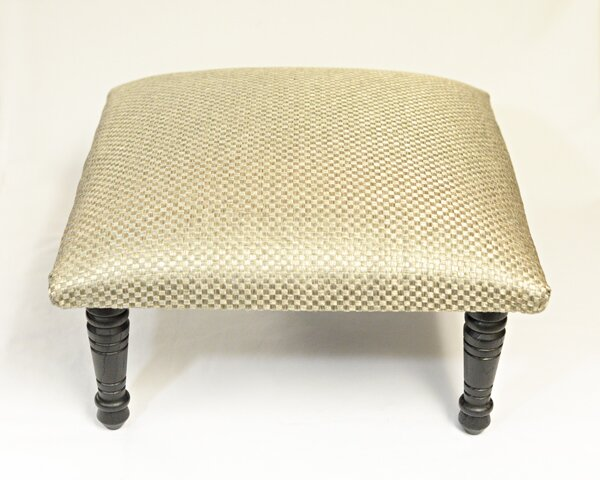 Maxine Basket Weave Accent Stool by Corona Decor