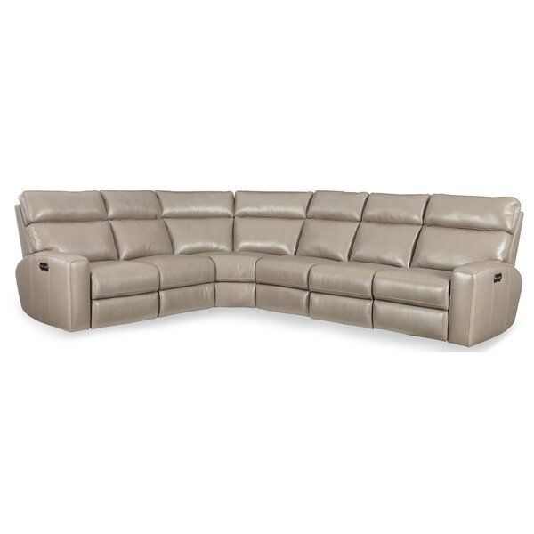 Mowry Leather Reclining Sectional by Hooker Furniture