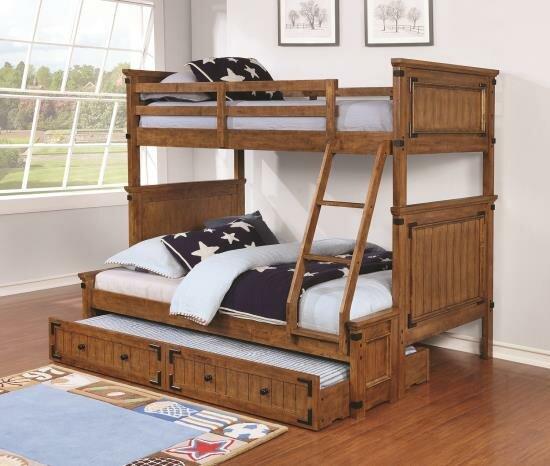 Katz Twin/Full Bunk Bed by Harriet Bee