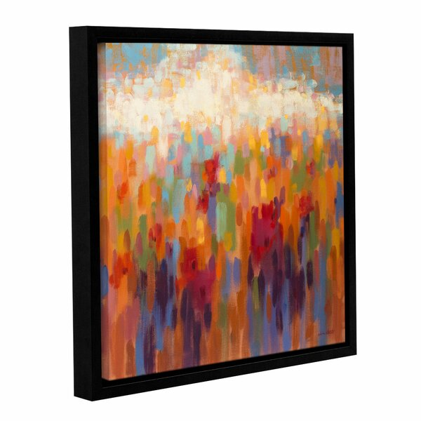 Poppy Mosaic Framed Painting Print by Latitude Run