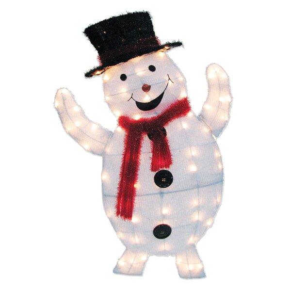 70 Light 2D Snowy Soft Snowman Sculpture by Brite Star
