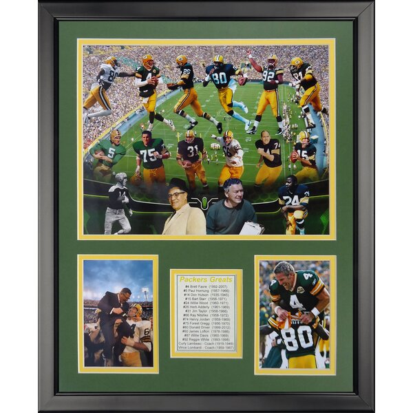 NFL Green Bay Packers - Packer Greats Framed Memorabilia by Legends Never Die