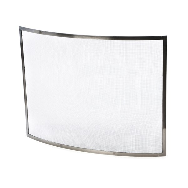 Check Price 1 Panel Steel Fireplace Screen