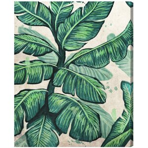 Banana Leaves Painting Print on Wrapped Canvas by Bay Isle Home