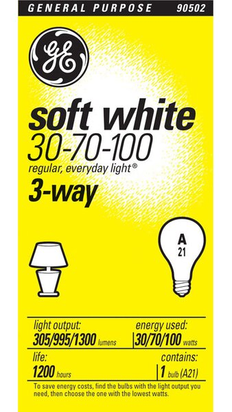 E26/Medium Incandescent Light Bulb by GE