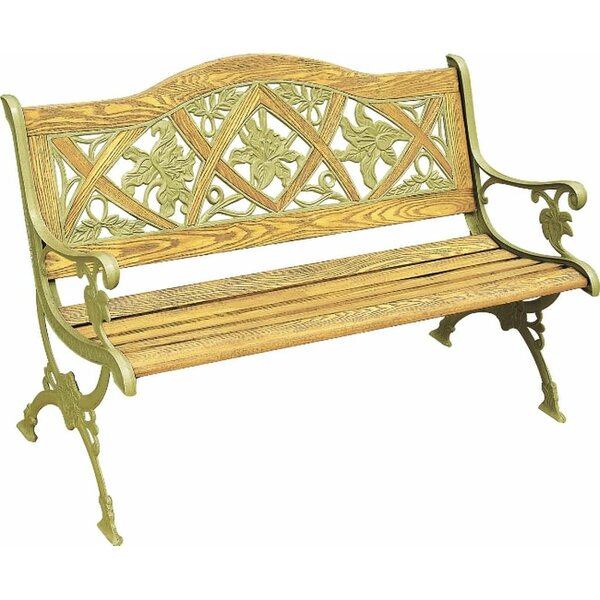 Lily Cast Iron Park Bench by DC America