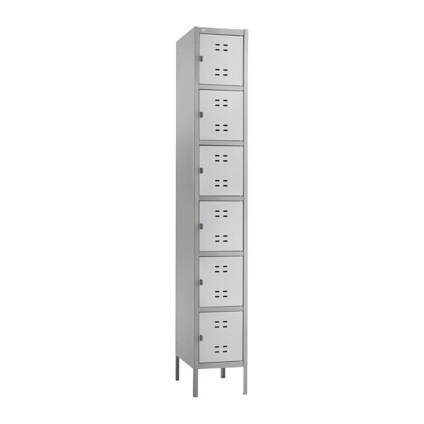 6 Tier 1 Wide School Locker by Safco Products Company
