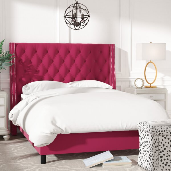 Aurelien Tufted Cotton Upholstered Panel Bed by Willa Arlo Interiors