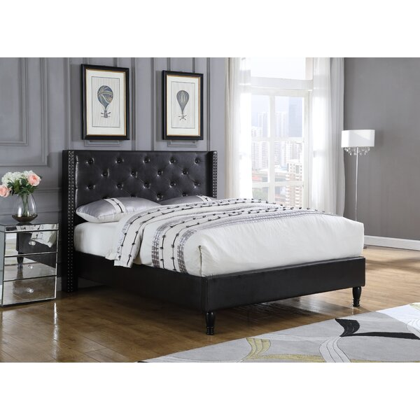 Modern Upholstered Platform Bed By Canora Grey by Canora Grey Bargain