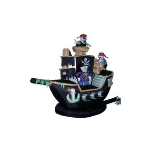 halloween inflatable skeletons u0026 ghosts on pirate ship decoration