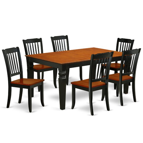 Labarbera 7 Piece Extendable Solid Wood Dining Set by August Grove