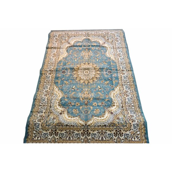 Elaina Delray Blue/Beige Area Rug by Astoria Grand