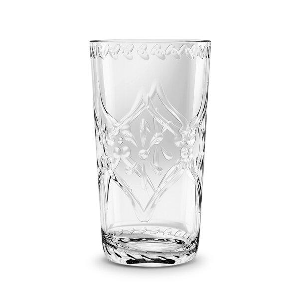 Alpert Scroll Cut 12 Piece 16 oz. Acrylic Every Day Glass by One Allium Way