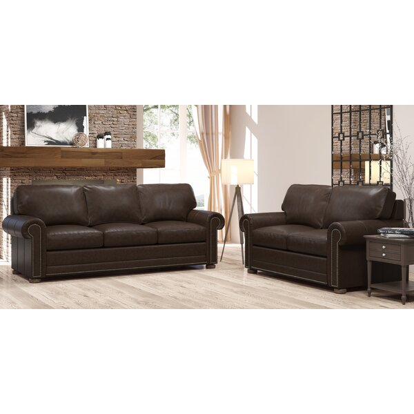 Odessa 2 Piece Leather Living Room Set by Westland and Birch